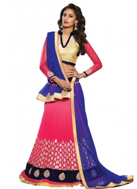 Miraculous Velvet Patch Work Party Wear Lehenga Choli