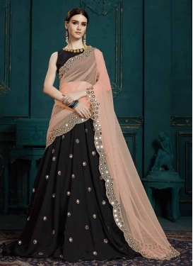 Mirror Work Trendy A Line Lehenga Choli