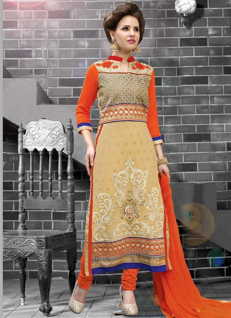 Mod Cut And Stone Work Pakistani Salwar Kameez