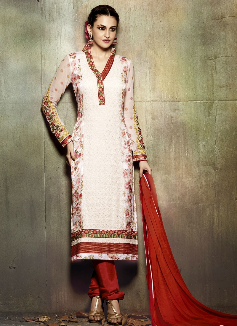Mod Lace And Embroidery Work Party Wear Suit