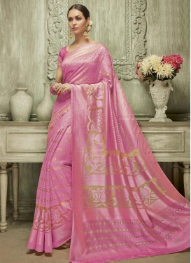 Modern Art Silk Contemporary Saree For Ceremonial