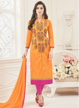 Modern Chanderi Silk  Churidar Designer Suit