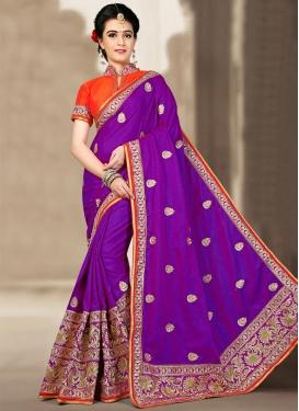 Modern Jacquard Silk Classic Saree