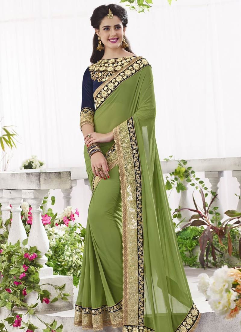 Modern Sequins Work Designer Saree