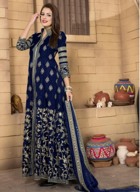 Modernistic Embroidered Work Long Length Salwar Kameez
