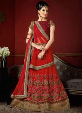 Modernistic Embroidered Work  Trendy Designer Lehenga Choli