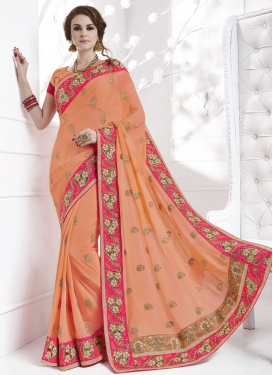 Modernistic Pure Georgette Traditional Designer Saree For Party
