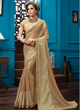 Modest Net Beads Work Trendy Designer Saree