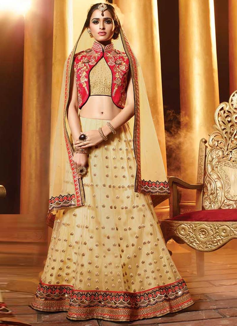 Modest Sequins Work Net Wedding Lehenga Choli