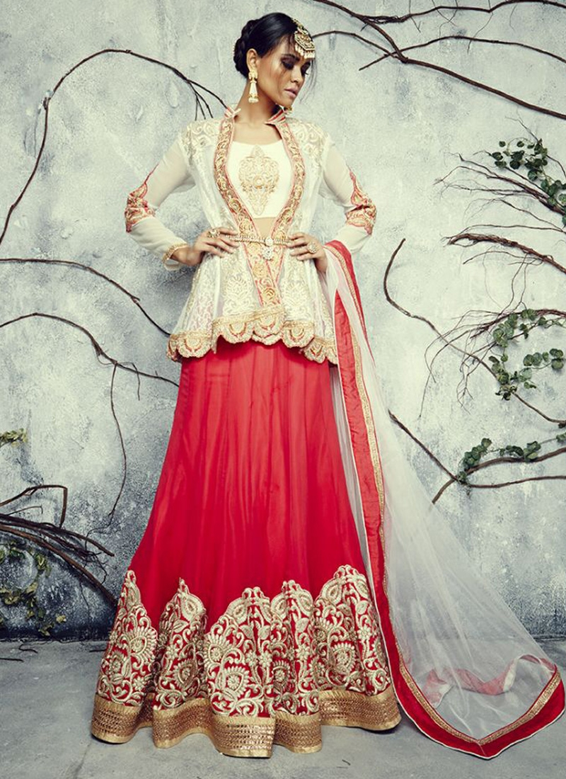 Modish Embroidery Work Designer Lehenga Choli