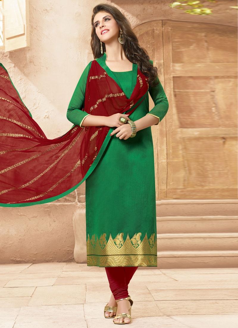 Modish Green Color Casual Salwar Kameez