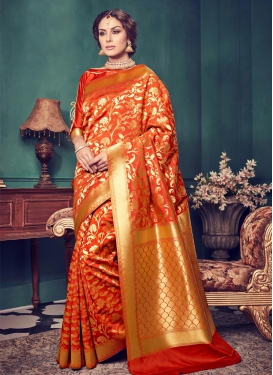 Modish  Jacquard Silk Trendy Saree