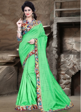 Modish Mint Green Color Casual Saree
