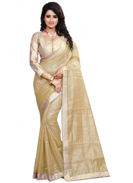 Monumental Crepe Jacquard Resham Work Party Wear Saree