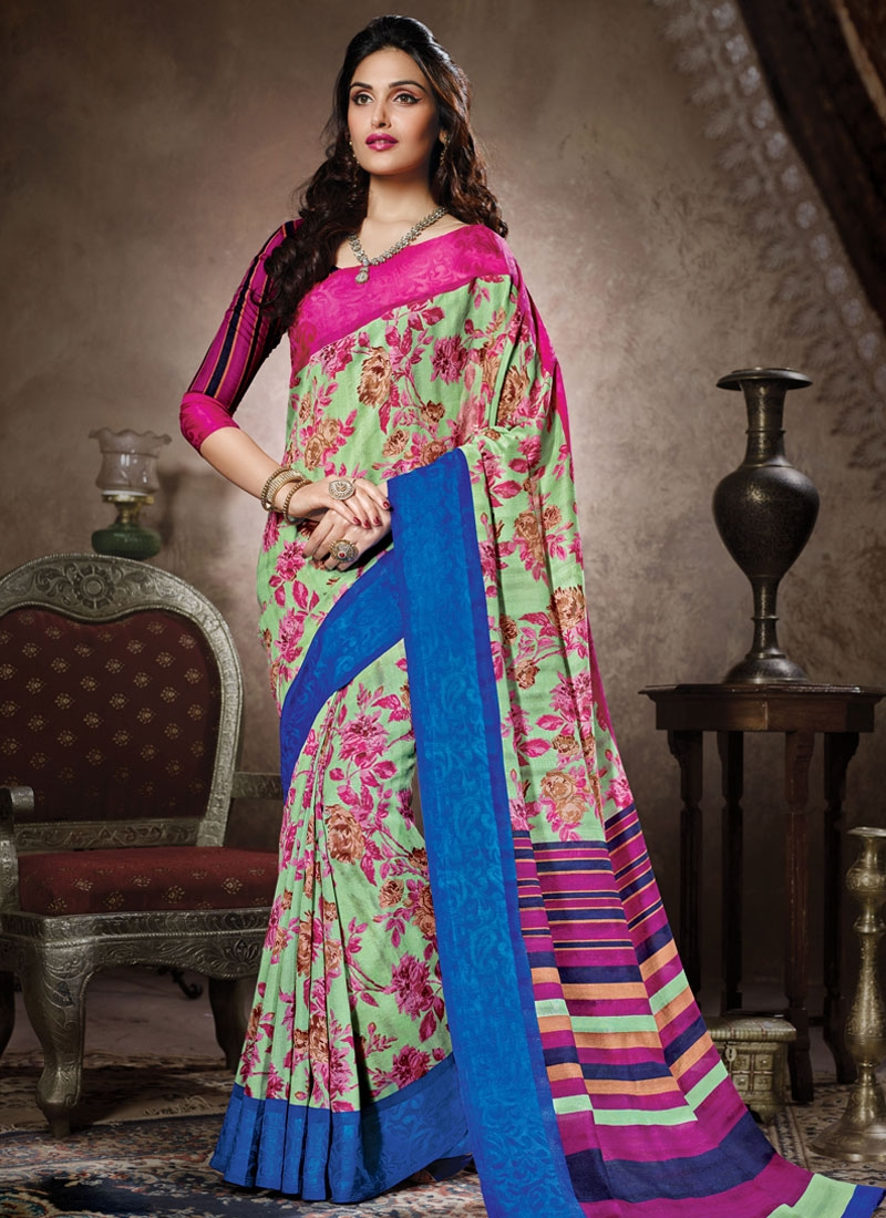 Monumental Mint Green Color Casual Saree