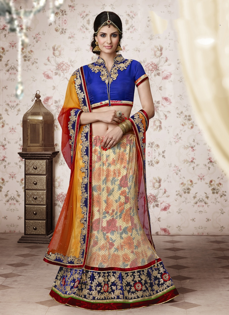 Monumental Patch Border Work Party Wear Lehenga Choli