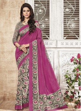 Monumental  Print Work Half N Half Trendy Saree