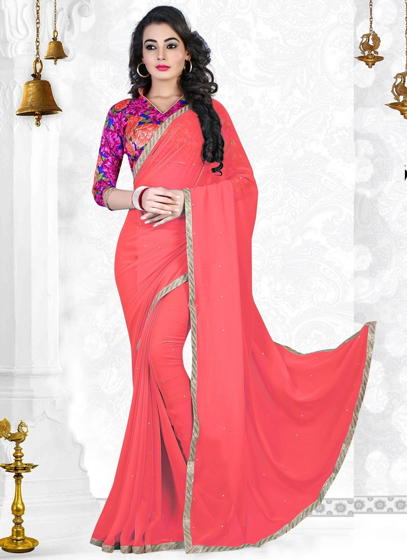 Monumental Resham And Lace Work Casual Saree