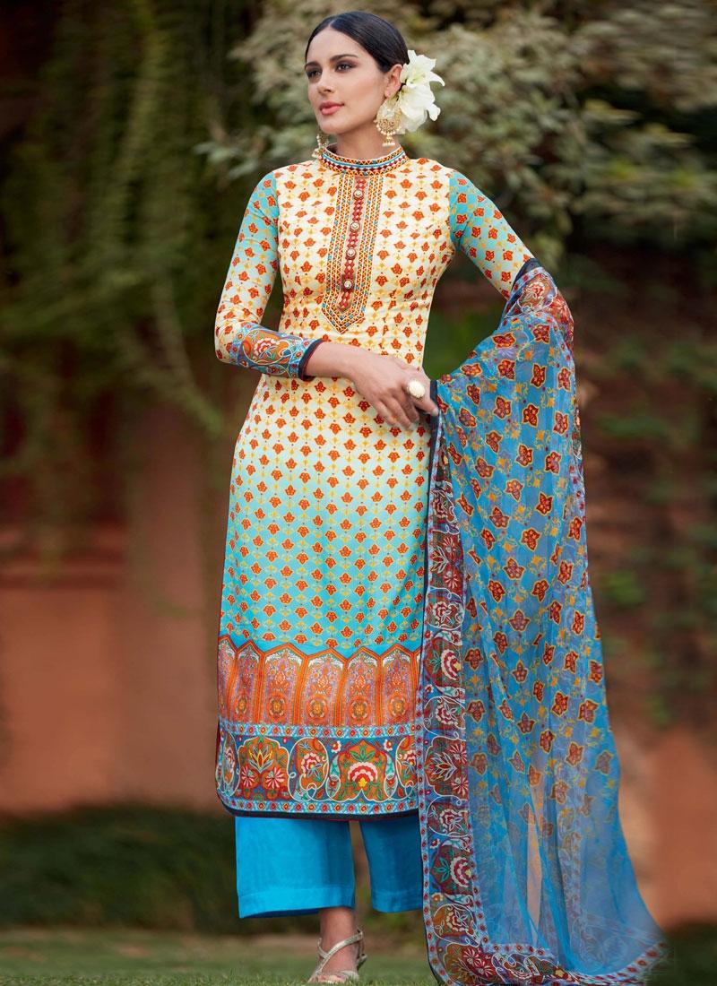Monumental Resham Work Palazzo Style Pakistani Salwar Suit