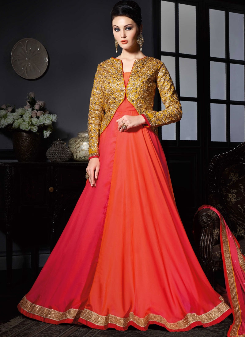 Monumental Stone Work Jacket Style Designer Salwar Suit
