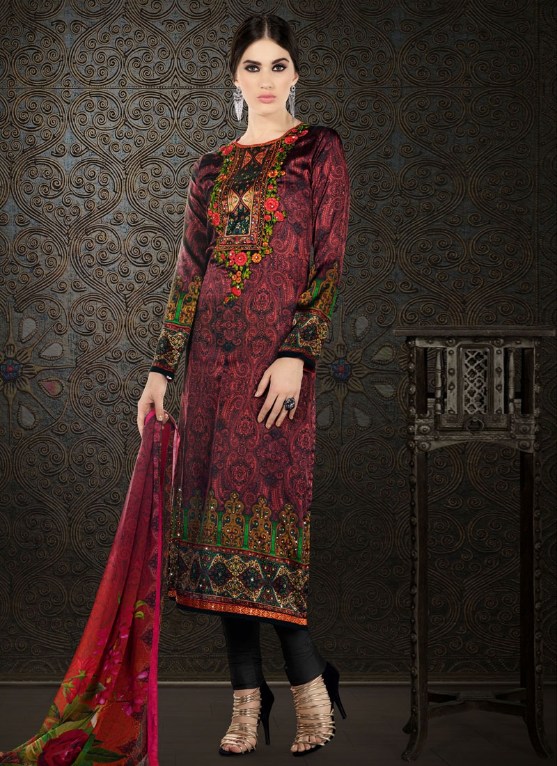 Monumental Stone Work Party Wear Salwar Kameez