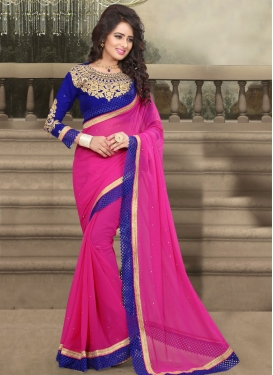 Monumental Stone Work Party Wear Saree