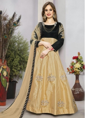 Monumental  Tafeta Silk Ankle Length Anarkali Salwar Suit