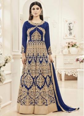 Mouni Roy Banglori Silk Long Length Designer Anarkali Suit
