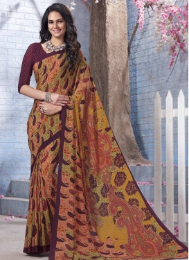 Mustard and Wine Classic Saree