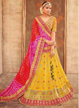 Mustard and Yellow Trendy Lehenga For Bridal