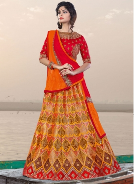 Mustard Jacquard Silk Trendy Designer Lehenga Choli For Ceremonial