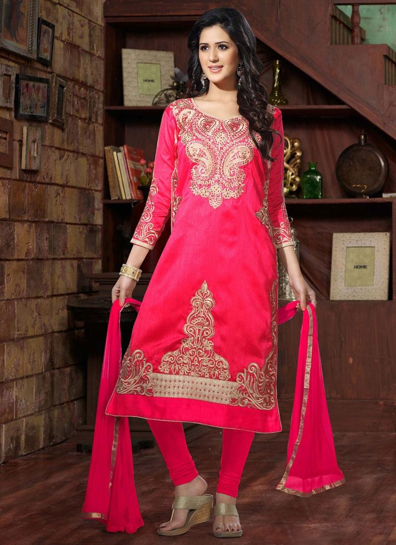 Mystic Embroidery Work Churidar Salwar Suit