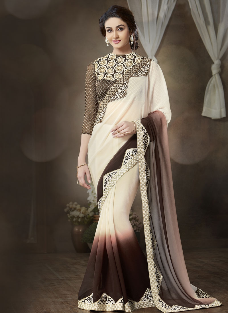 Mystic Sequins And Resham Work Party Wear Saree