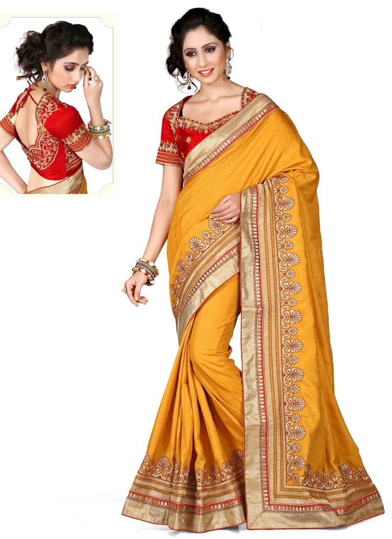 Mystic Stone Work Silk Designer Saree