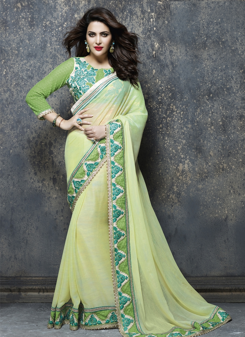 Mystical Beads And Resham Enhanced Party Wear Saree