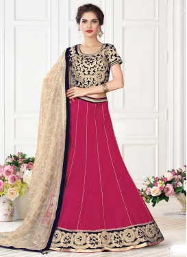 Mystical  Embroidered Work Raw Silk Lehenga Choli