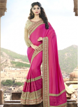 Mystical  Silk Georgette Beads Work Traditional Designer Saree