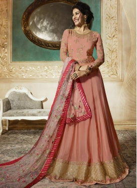 Nargis Fakhri Embroidered Work Floor Length Anarkali Salwar Suit