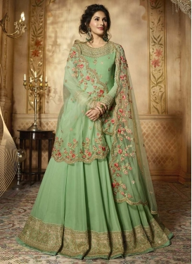 Nargis Fakhri Faux Georgette Long Length Anarkali Suit