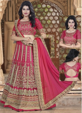Net A Line Lehenga Choli For Party