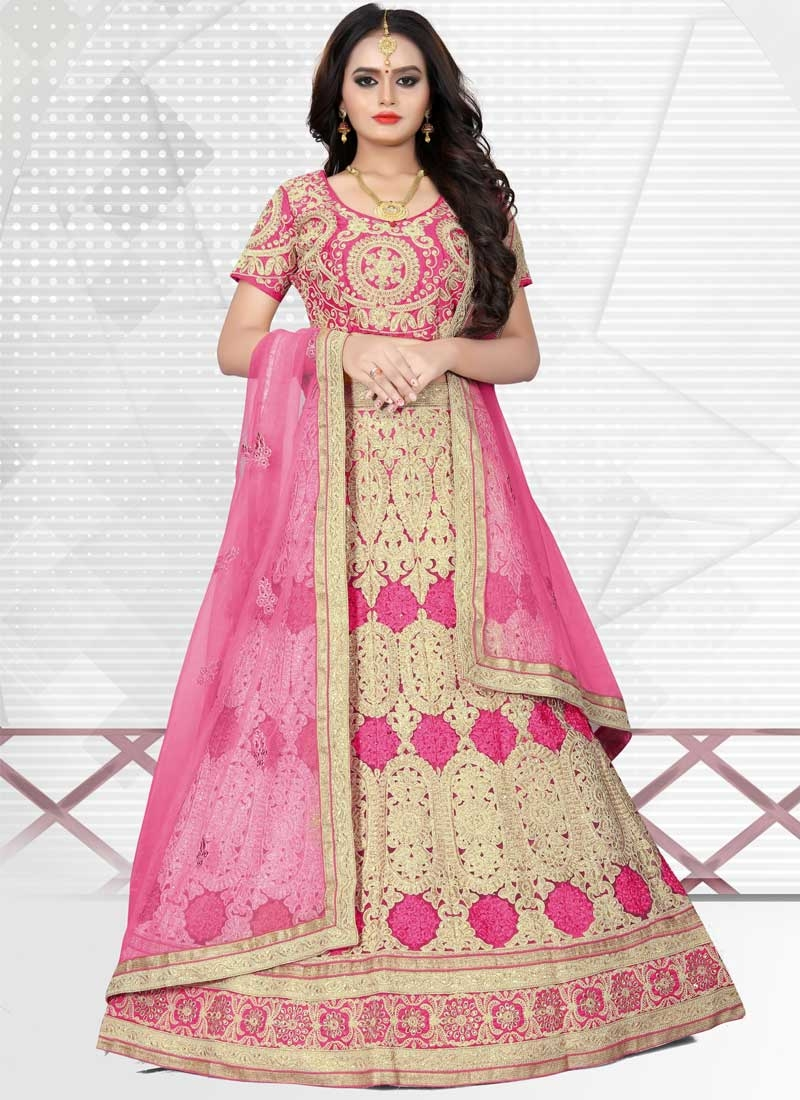 Net A - Line Lehenga For Bridal