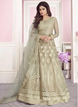 Shamita Shetty Net Anarkali Salwar Kameez