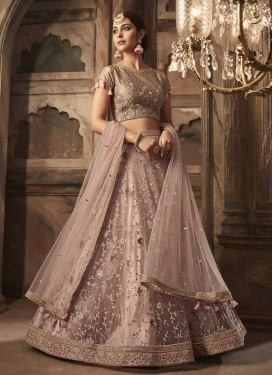 Net Beads Work Trendy Lehenga Choli