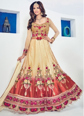 Net Booti Work Long Length Anarkali Salwar Suit