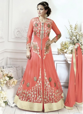 Net Booti Work Long Length Designer Suit