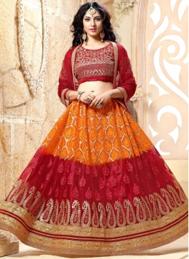 Net Booti Work Trendy Lehenga Choli