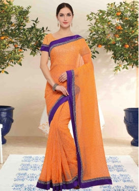 Net Contemporary Style Saree For Casual