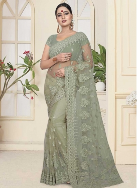 Net Designer Contemporary Style Saree