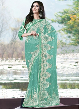Net Designer Contemporary Style Saree For Ceremonial