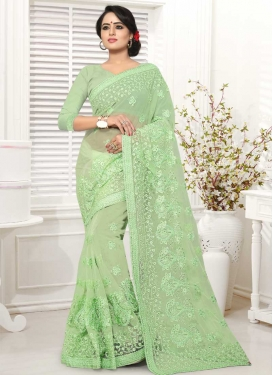 Net Designer Contemporary Style Saree For Festival